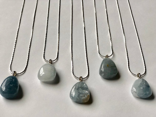 Celestite Pendant Necklace