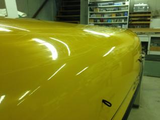 A shiny canoe! Un canot lustré!