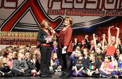 Ms. Amanda receiving Award