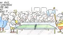Les rois de la raquette sur table