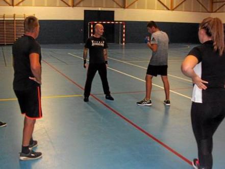 La savate boxe française en démonstration