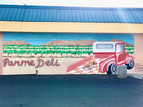 Clayton Valley Students Paint Parma Deli Mural
