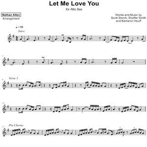 Let Me Love You (Saxophone Sheet Music) - Mario