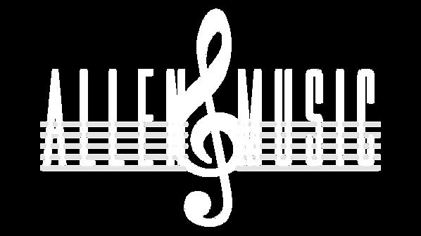 Allen Music Logo All-White [Transparent]
