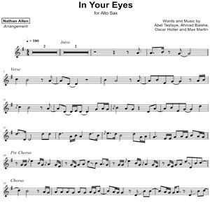 The Weeknd - In Your Eyes - Sheet Music