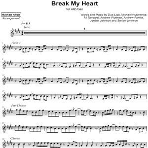 Dua Lipa - Break My Heart - Sheet Music