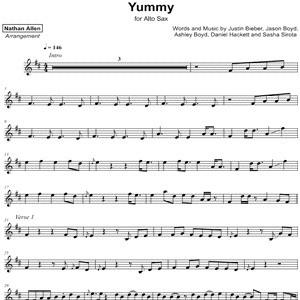 Justin Bieber - Yummy - Sheet Music