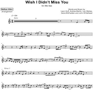 Angie Stone - Wish I Didn't Miss You - Sheet Music