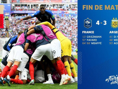 Qualification en quart de finale de la France 🇫🇷