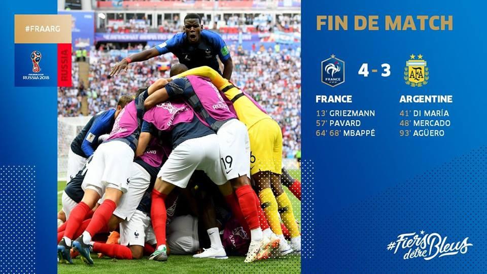 Équipe de France - Quart de finale