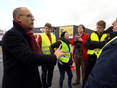 Nouvelle rencontre avec les gilets jaunes à Louviers