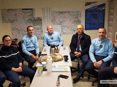 Visite de la brigade de gendarmerie de l'Eure