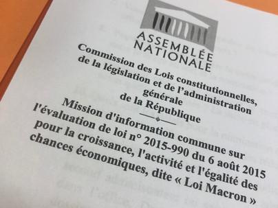 """Mission d'information commune sur l'évaluation de la loi """"Macron"""""""