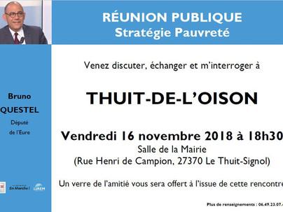 Réunion publique à Thuit-de-l'Oison
