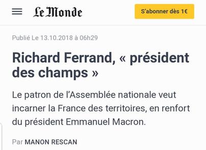 """Richard Ferrand, """"Président des champs"""""""