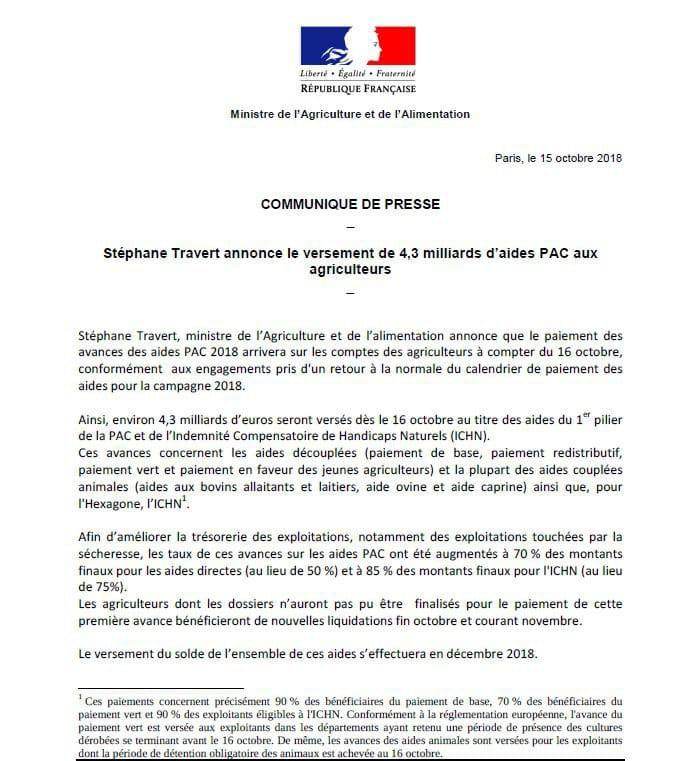 PAC 2018 - Stéphane Travert