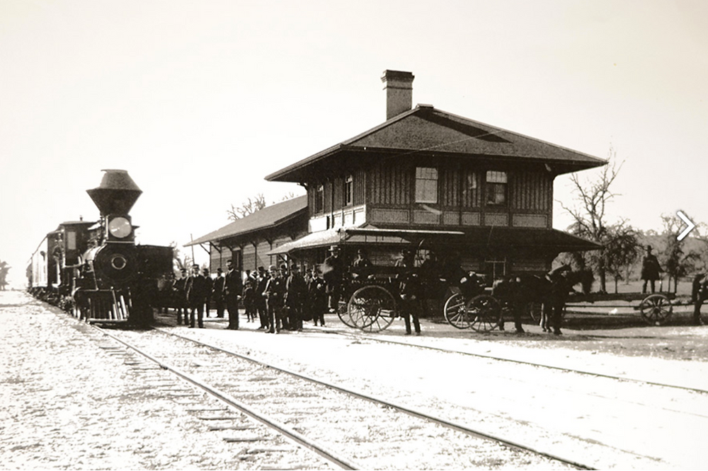The first day the train rolled into Paso Robles