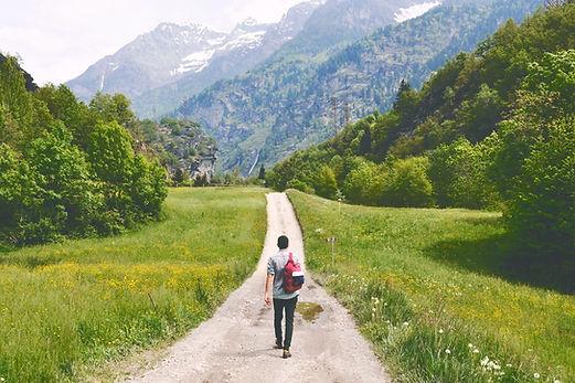 Find mental wellness again. Image: Nature hike.