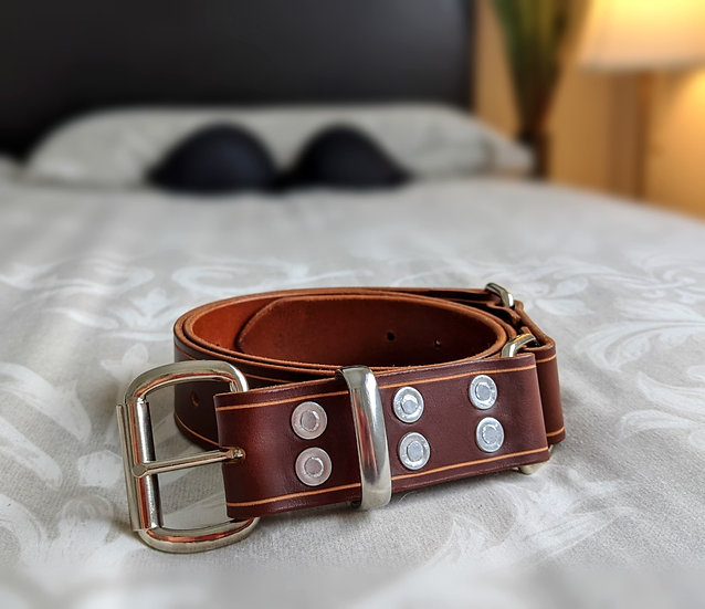 "Cognac Hobble Belt 1.5"" (38mm) Wide"