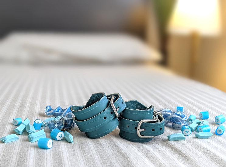 Candy Stripe Mint Cuffs