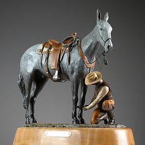 Hobbled Horse Statue