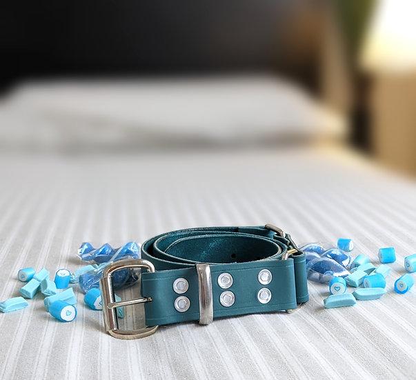 """Candy Stripe - Mint Hobble Belt 1.5"""" (38mm) Wide"""