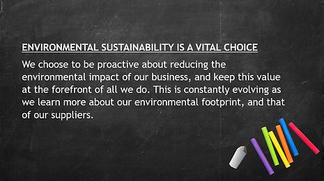 Environmental Sustainability Is a Vital