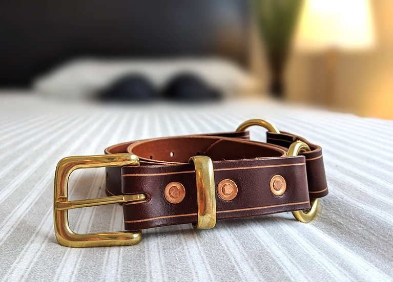"Brassy Grizzly Hussy Hobble Belt 1.25"" (32mm) Wide"
