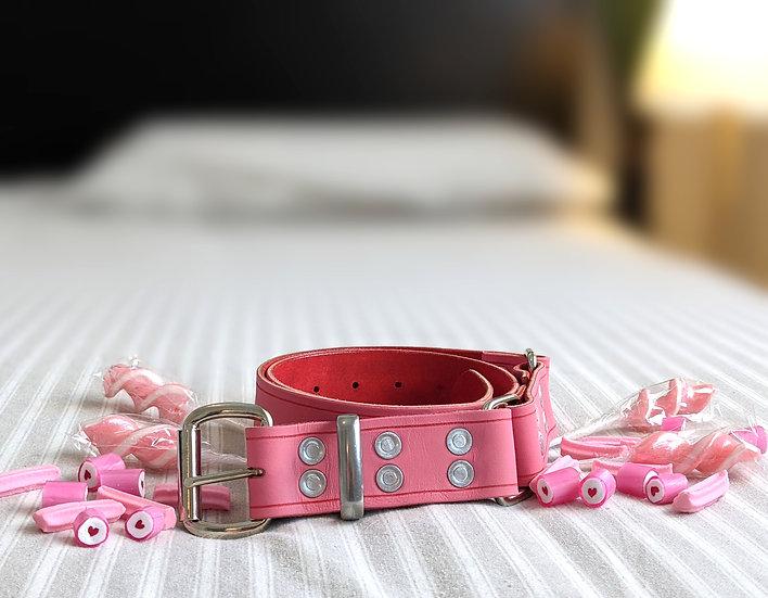 """Candy Stripe - Musk Hobble Belt 1.5"""" (38mm) Wide"""