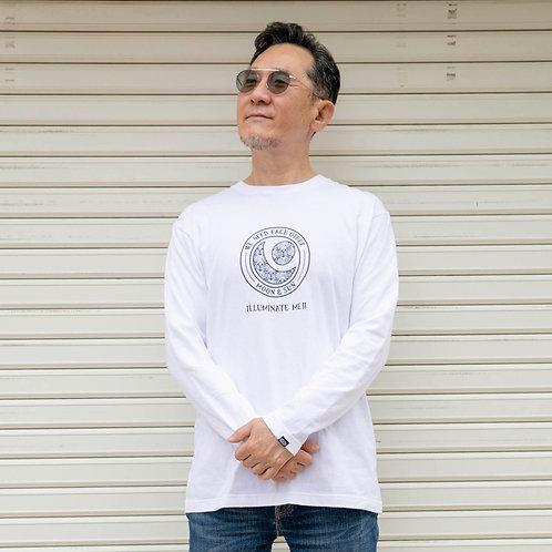 月と太陽 ロングTシャツ(ホワイト)