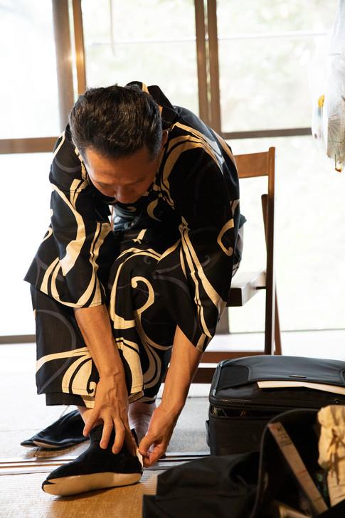 鎌倉和室では足袋を