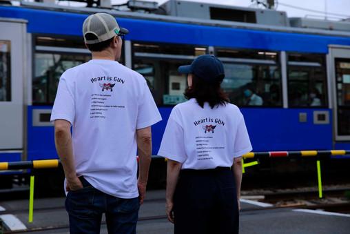 Heart is GUN Tシャツ