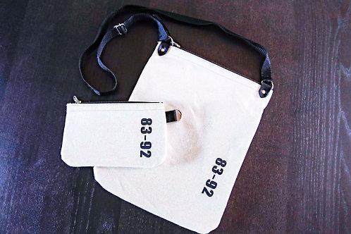 【受注生産】8392 キャンバスショルダーバッグ<TYPE B・ホワイト>