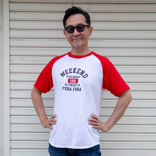 WEEKEND Tシャツ(レッド×ホワイト)