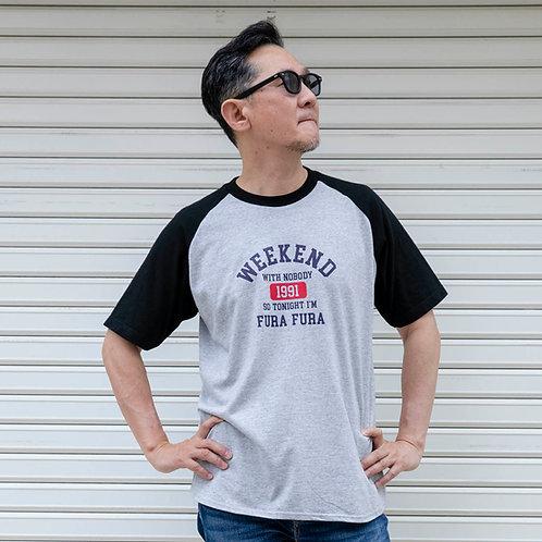 WEEKEND Tシャツ(ブラック×グレー)