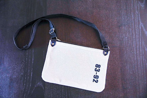 【受注生産】8392 キャンバスショルダーバッグ<TYPE A・ホワイト>