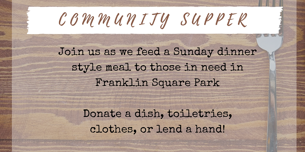 Community Supper August 2020