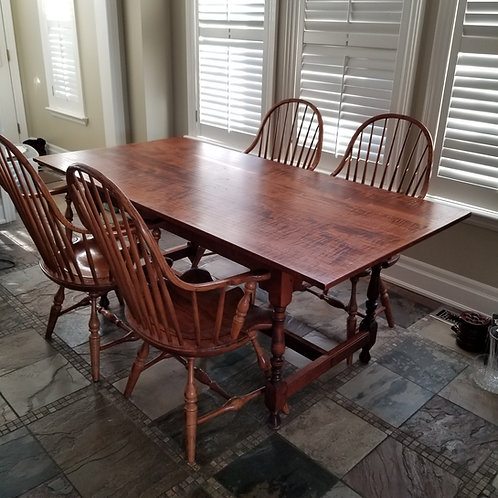 Lot 94  Zebra Wood Table & Chairs