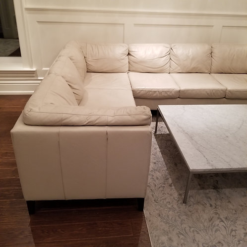 Leather Sectional Lot 53