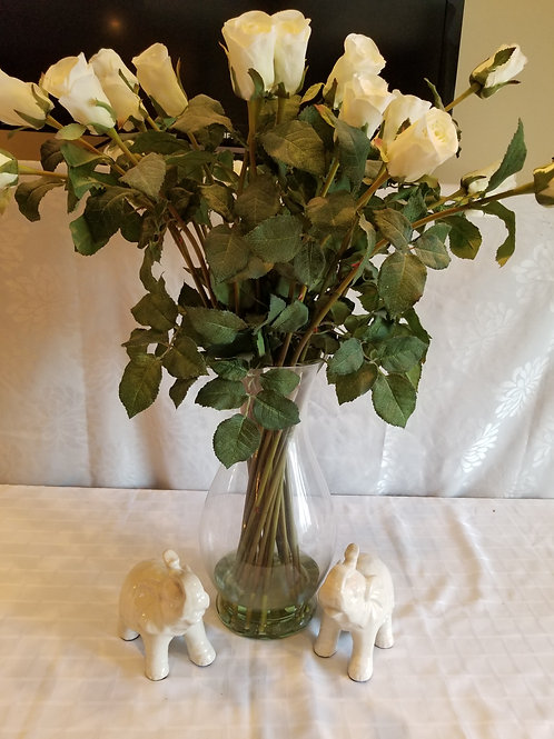 Vase of Roses with 2 elephants (Lot 17)