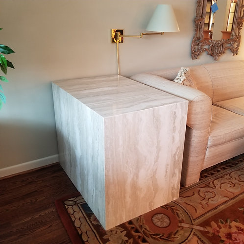 2 Marble End Tables   Lot 3