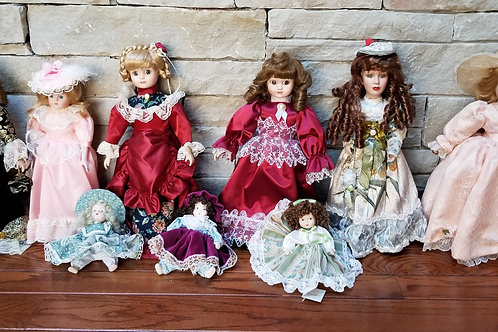 11 Porcelain Dolls