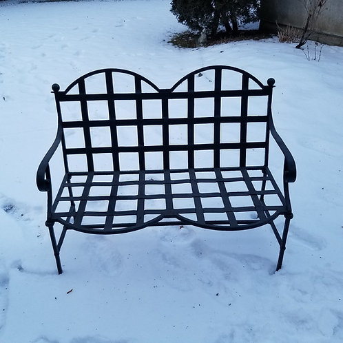 Lot 103 Cast Iron Bench & Side Table