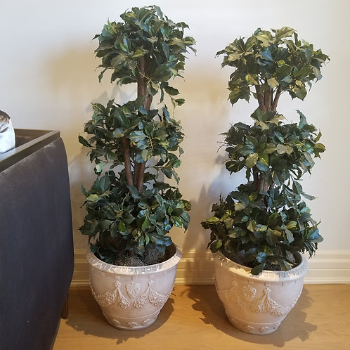Lot 8 - Pair of Artificial Trees