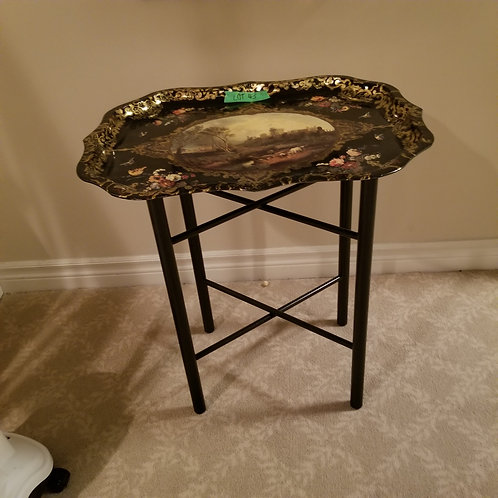 Metal Tray on Stand Lot 43