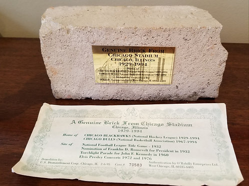 Lot 117 Authentic Chicago Stadium Brick