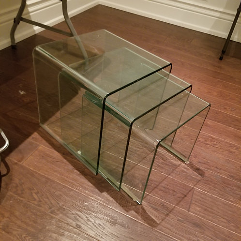 Glass Nesting Tables Lot 73