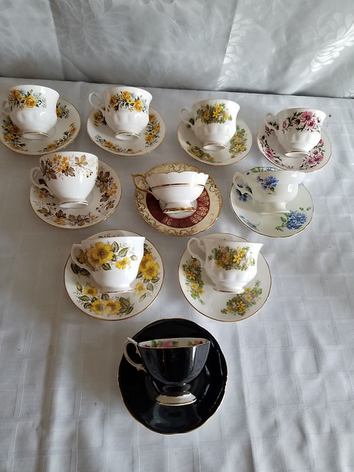 10 Cups and Saucers ((Lot 18)