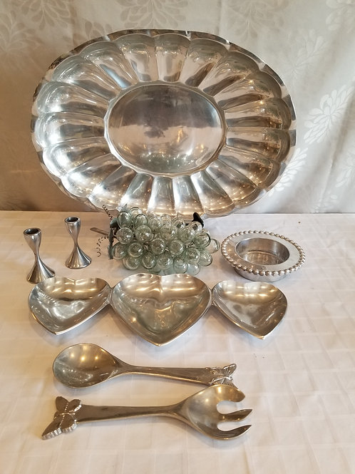 Assorted Pewter Pieces (Lot 9)