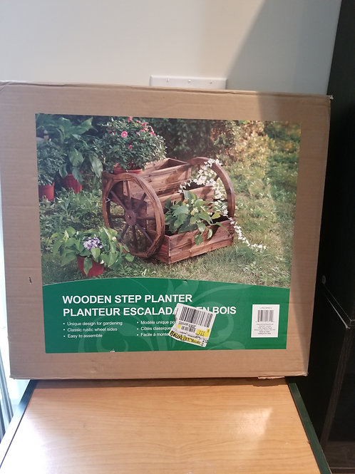 Wooden Step Planter